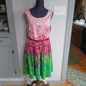 Modcloth Spring Flowers Dress Size XL So Pretty!
